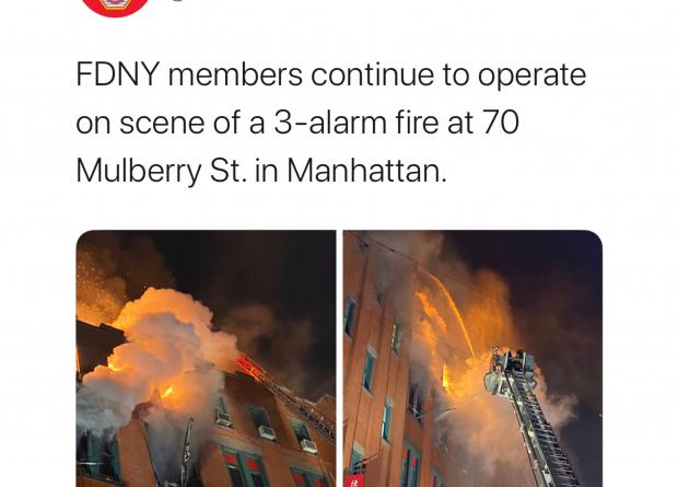 FIRE AT 70 MULBERRY STREET Image